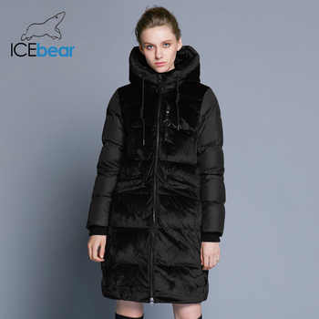 ICEbear 2019 new high quality winter velvet jacket thick warm women's parka clothing fashion casual women's brand coat GWD18080 - DISCOUNT ITEM  66% OFF All Category