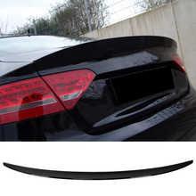 Rear Trunk Lid Spoiler Glossy Black Fit for Audi A5/S5 B8/B8.5 Sportback 2008-2016