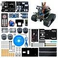2020! Новинка! LAFVIN Мини Танк робот умный робот автомобильный комплект для Arduino UNO DIY робот образование Программирование Обучающий набор с учебн...