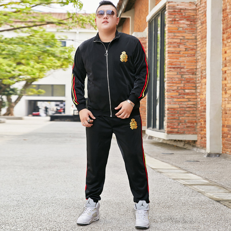 Special Fat Extra Large Men Jacket Wei Yi Wei Pants Leisure Suit Fat Loose Plus Fat Increase Code Two-piece Set