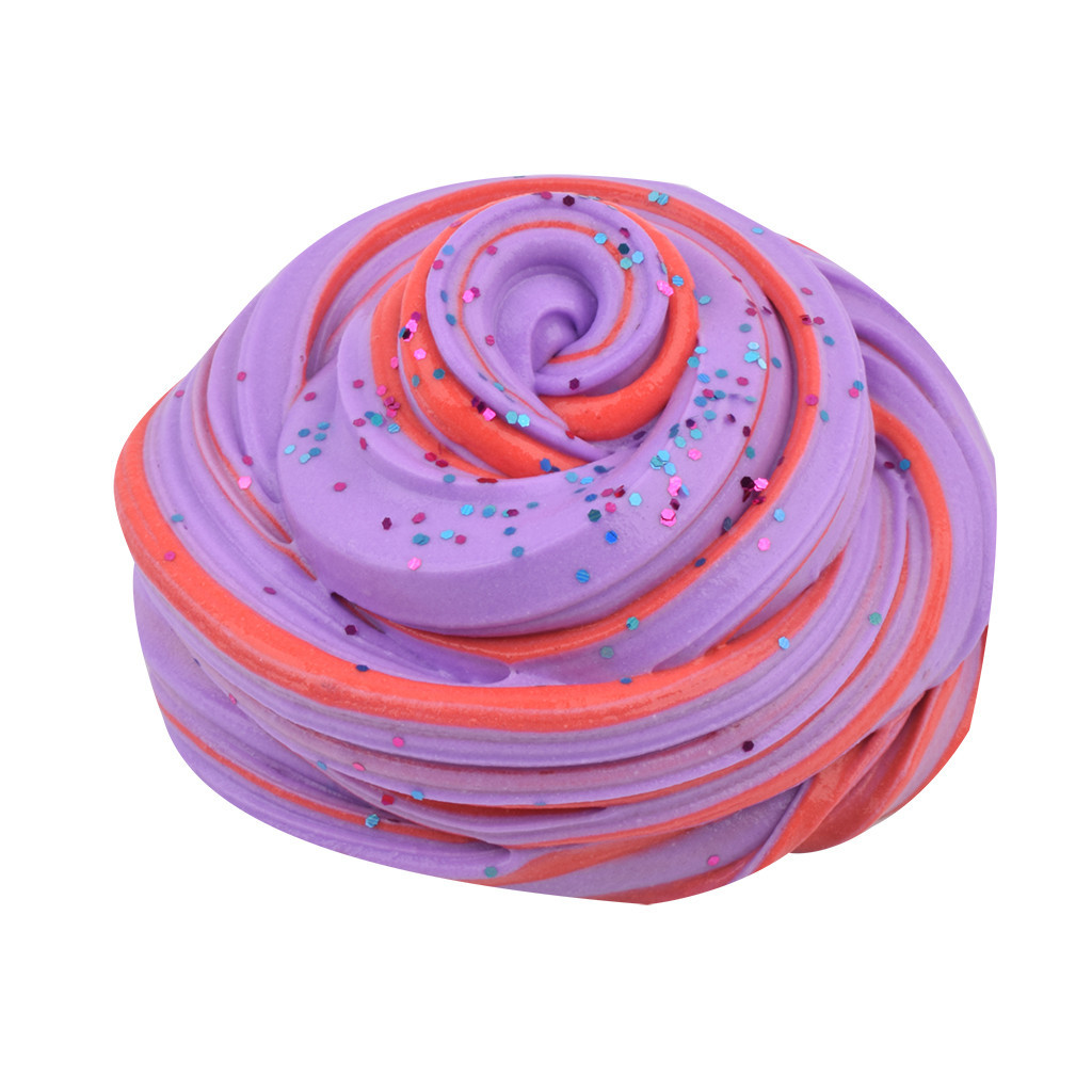 Color Mixing Foam Ball Clay Could Slime Charms Gum Polymer Clay Antistress Slime Children's Toys Reduced Pressure Mud #B