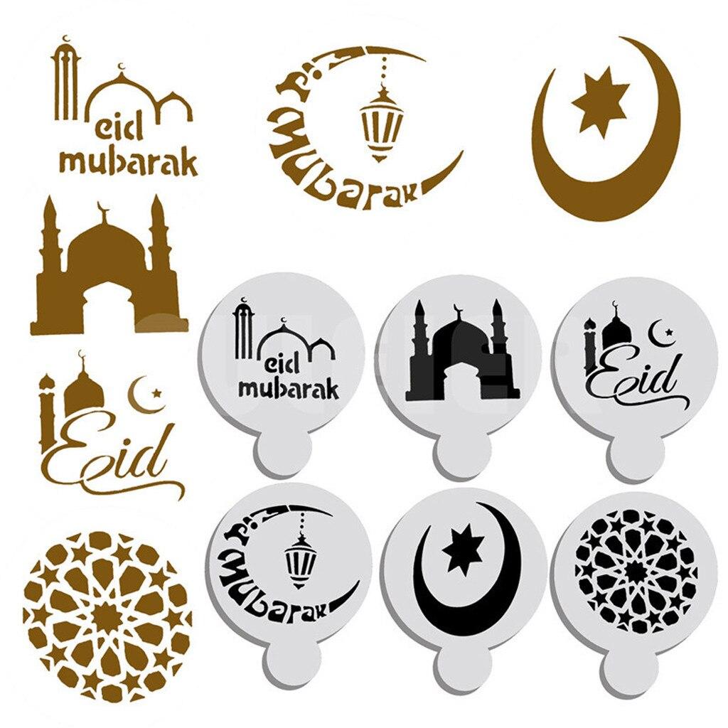 Grille simple 6 pièces Ramadan moubarak Festival marquage gâteau haut pochoir décoration étoile moule lune maison cuisine