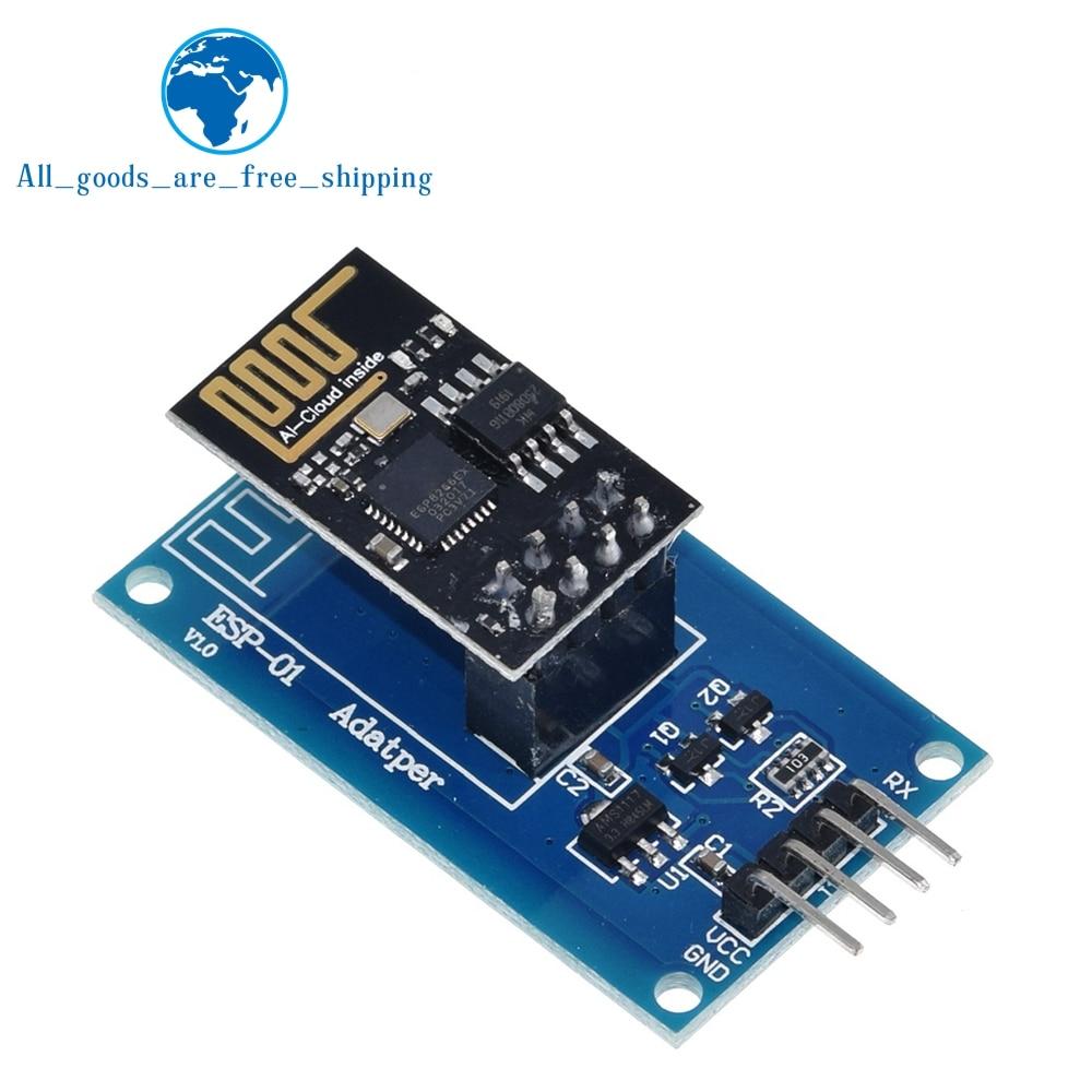Завеса ESP8266 ESP-01 серийныйl wi-fi Беспроводной модуль адаптера 3,3 V 5V Esp01 коммутационная адаптеры PCB совместимый для Arduino