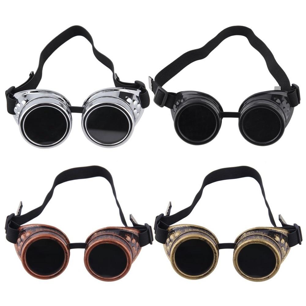Body Massage Facial Body Massage Cyber Goggles Steampunk Glasses Vintage Retro Welding Punk Gothic Sunglasses 2018 Fashion(China)