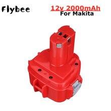 Batterie de remplacement pour Makita 12V 2000mAh Ni CD, Rechargeable, pour outils électriques, Bateria PA12 1220 1222 1235 S 6271D, 1 pièces