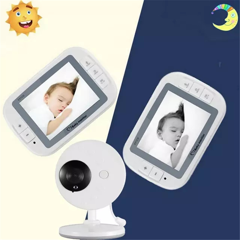 Discoball Wireless Video Baby Monitor 3.5inch LCD Sreen Baby Sleep Monitor Baby Care Nanny Security Night Vision Camera Video