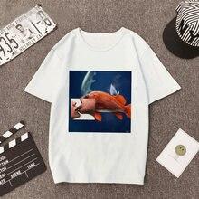 Футболка в стиле Харадзюку футболка с рисунком Женский Топ белая