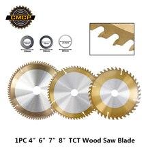 """1 шт. """" 6"""" """" 8"""" дюймовый деревообрабатывающий пильный диск 30T 40T 60T 80T Циркулярный пильный диск для дерева с тицным покрытием TCT режущий диск"""