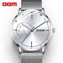 Dom Топ Элитный бренд Для мужчин спортивные кварцевые часы мужские