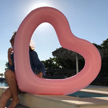 Inflatable Lifebuoy Drifting Swimming Ring Floating Bed Giant Heart-shaped Inflatable Toy Summer Banana Swim Flow Seat WaterRaft(China)