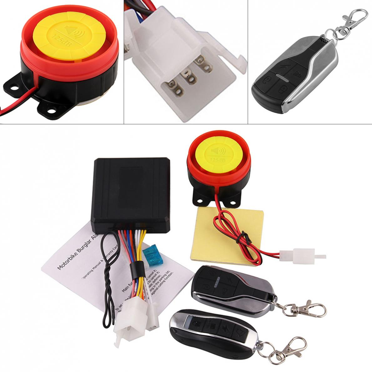 125db 315 Mhz Motorcycle Burglar Alarm Scooter Anti-theft Alarm With Two Remote Control Key For Motorcycle Anti-theft System