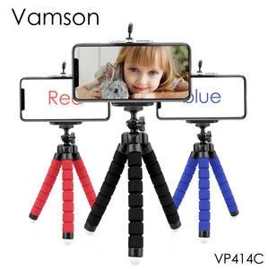 Vamson Mini Flexible Sponge Octopus Tripod for iPhone Samsung Xiaomi Huawei Mobile Phone Smartphone for Gopro Camera VP414C