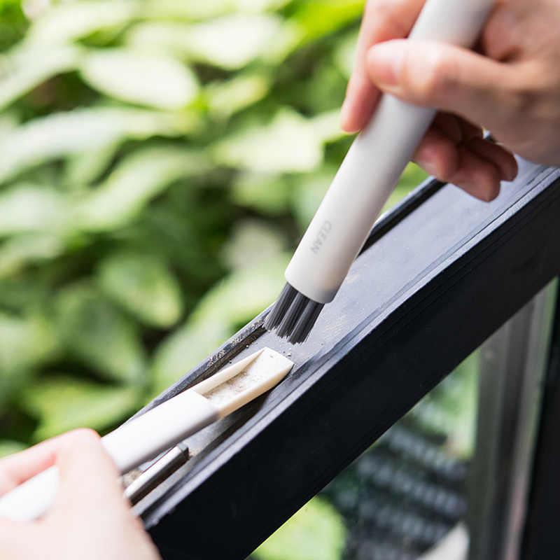 1 قطعة باب زجاجي ونافذة أداة تنظيف الزاوية فرشاة الغبار لوحة المفاتيح أعمى تنظيف فرش الأنظف تنظيف فرشاة