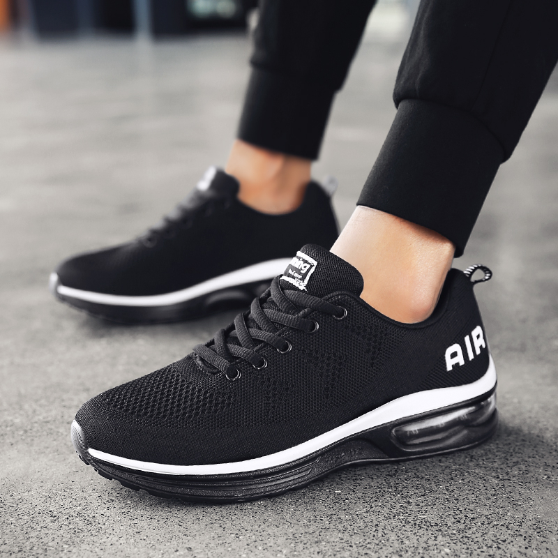 Mens Shoes Spring Autumn Mens Sports Shoes Breathable Mesh Sneakers Air Cushion Men Running Shoes Nonslip Jogging Athletic Shoes
