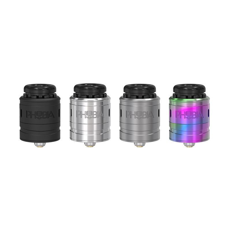 Phobia V2 RDA Atomizer 1ML 24mm Diameter Angled Downward Airflow Holes Easy To Build For Single Coil Or Dual Coils Free Shipping