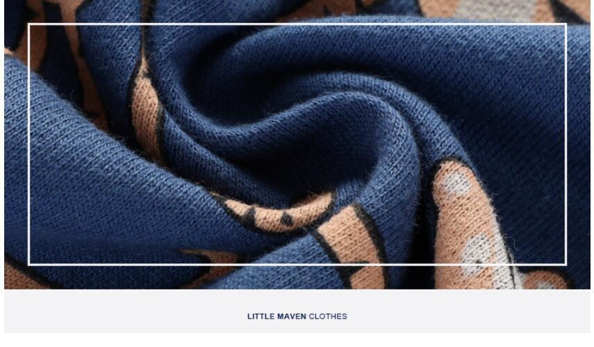 Little maven 2021 autumn boys brand clothes children Hoodies & Sweatshirts boy cotton animal print kids sweatshirts fleece C0173 6