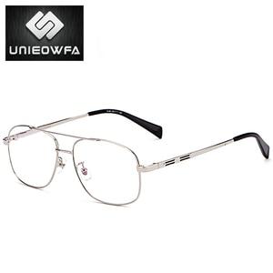Image 5 - High Quality Prescription Frame Glasses for Men Transparent Clear Eyeglasses Frame Optical Myopia Spectacles Pilot Style 2019