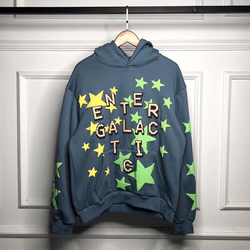 Kid Cudi EnterGalactic Hoodie Fluorescent Green Stars 1