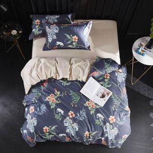 Svetanya 500TC Egyptian Cotton Bedding Set Silkly Linens Flowers Sheet Pillowcase Quilt Cover