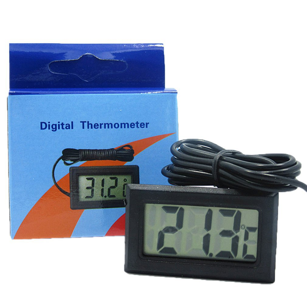 LCD Digital Thermometer With Battery Freezer Mini Thermometer Indoor Outdoor Electronic Thermometer With Sensor