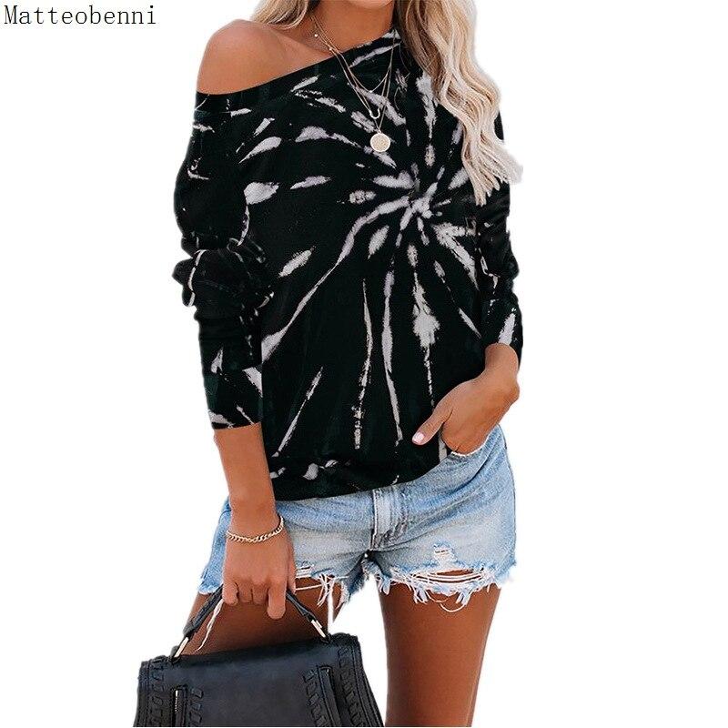 Women Sexy Fashion Gradient Print Tee Shirt Autumn Winter Basic Long Sleeve O Neck T-Shirt Casual Loose Ladies Tops Plus Size(China)