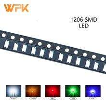 Diode Orange 1206 Assorted-Kit Uv-Light White Blue Green 100pcs Yellow Smd Led DIY PCB