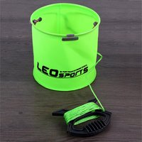LEO Bobing Foldable 17X17cm EVA Fishing Bucket Folding Waterpot Bucket Water Barrel Lure Fishing Tackle Boxes Pesca Accessories|Fishing Tackle Boxes| |  -