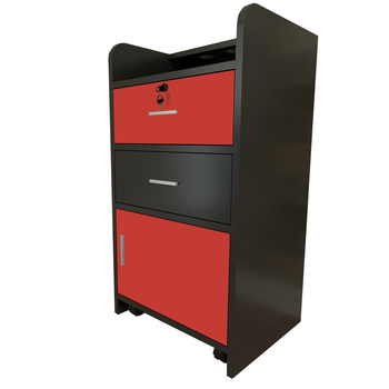 43 x 35 79cm  2 Pumping a Beauty Salon Side Table Black & Red wall - mounted salon beauty table - discount item  1% OFF Commercial Furniture