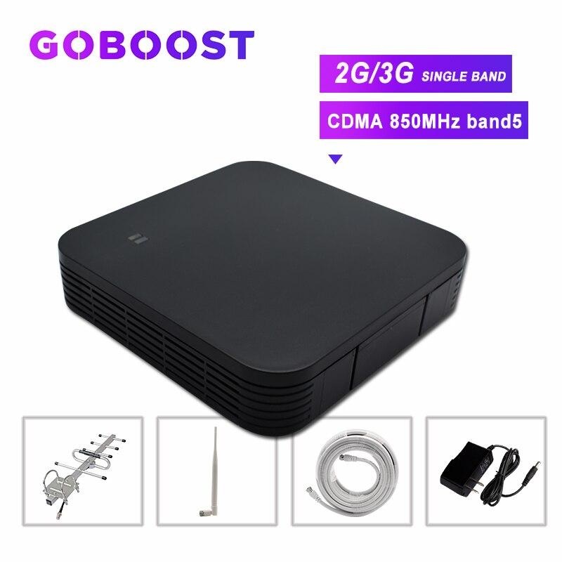 CDMA 850MHZ Cell Phone Amplifier Band5 Cellular Signal Booster GSM 2G 3G Cell Phones Signal Booster 60dB Yagi+Whip Antenna Kit >