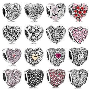 Pdb zz 08 prata 925 jóias protótipo 1:1 natureza sonho twain coração-em forma de amor você bloquear árvores florescendo jóias presentes femininos