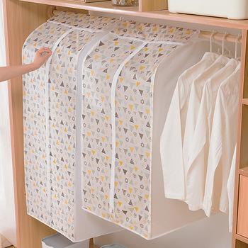 3D Zipper kurz pokrowiec na ubrania na ubrania szafa garnitur torby szafa wieszaki Case odzież pokrowiec woreczek pyłowy wiszący Organizer 1P tanie i dobre opinie CN (pochodzenie) ppSNB392 Floral PRINTED Tkaniny Nowoczesne Multi Colours Wardrobe Under Bed Closet PEVA PE EVA S M L XL