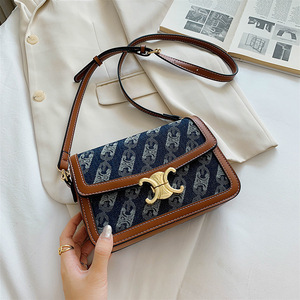 2020 Europe and the United States Leisure Fashion Single Shoulder Messenger Women's Bag New Canvas Small Square Bag