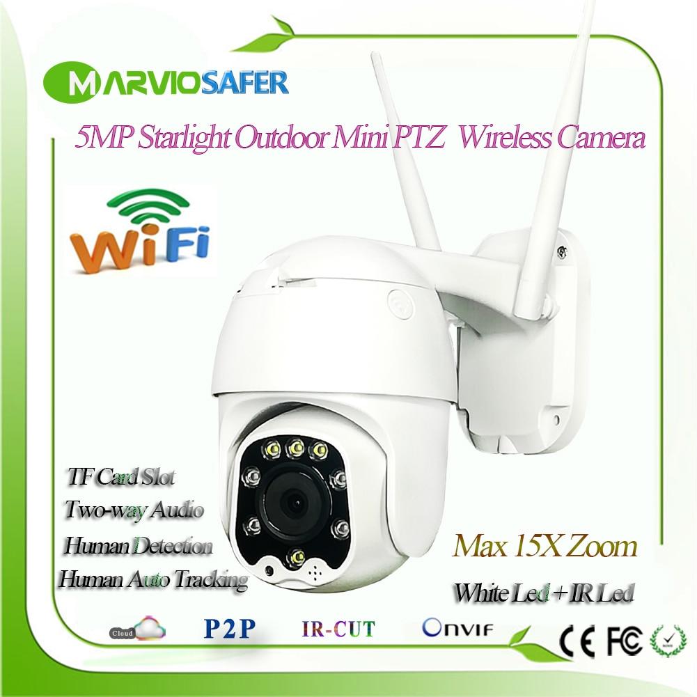 5MP Wireless 5X Zoom MINI  PTZ IP WIFI Camera Speed Dome  CCTV Video Security Cam ONVIF Outdoor IR 30M Two Way Audio P2P CamHi