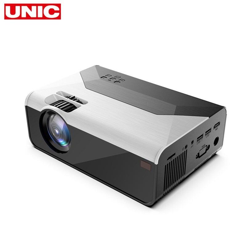 UNIC G08 MINI Projektor 1280x72 0P/800x480p Video Beamer Tragbare 3D video Cinema Unterstützung 1080P WIFI/Android Hause Projektor