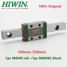 1pc Original Hiwin linear guide MGN9 150 200 250 300 330 350 400 450 500 550 mm MGNR9 rail +1pc MGN9C block carriage CNC parts
