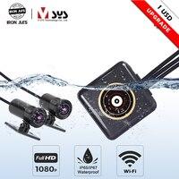 SYS VSYS P6F P6LFull Body Waterproof Motorcycle Camera Recorder WiFi Dual 1080P Full HD Motorcycle DVR Dash Cam Black GPS Box