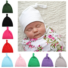 Jarry Cotton solid color knotted infant newborn kid photo props hat cap fashion simple baby toddler boy and girl winter hats цена 2017