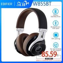 Беспроводные Bluetooth наушники EDIFIER W855BT, HD стерео музыка, беспроводная гарнитура BT V4.1 с микрофоном, разъем 3,5 мм, AUX кабель, сопряжение NFC