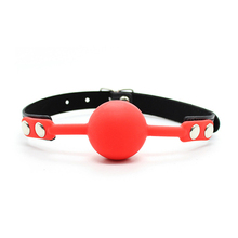 Soft Silicone Oral Fetish Open Mouth Ring Gag Ball Bondage Restraints Sex Toys For Women Slave Gag With Open Holes For Couples cheap NoEnName_Null Accessories Set Synthetic Leather Metal