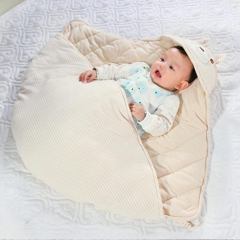 Newborn Sleeping Bag Anti-kick Infantil Swaddle Wrap Trappelzak Envelope Baby Winter Thickening Slaapzak Toddler Bag Stroller