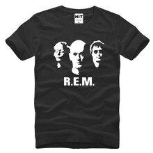 Pop Rock Band REM Printed Mens Men T Shirt Tshirt 2016 New Short Sleeve O Neck Cotton T-shirt Casual Tee Camisetas Hombre
