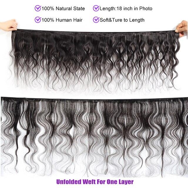 La onda del cuerpo brasileño mechones 1/3/4 Uds 100% extensiones de pelo ondulado Alidoremi de la extensión del pelo humano Remy 30 pulgadas mechones 32 34 36 38 40
