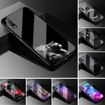 Dla Huawei Honor 9X Pro sprawa Honor 9X PC plastikowa obudowa telefonu czarna obudowa z tpu dla Huawei Honor 9X X9 9 X Pro okładka tanie i dobre opinie MEAFORD Geometryczne Zwierząt Marmur Floral Bumper Tempered Glass Phone Cases For Huawei Honor 9X X9 9 X Odporna na brud