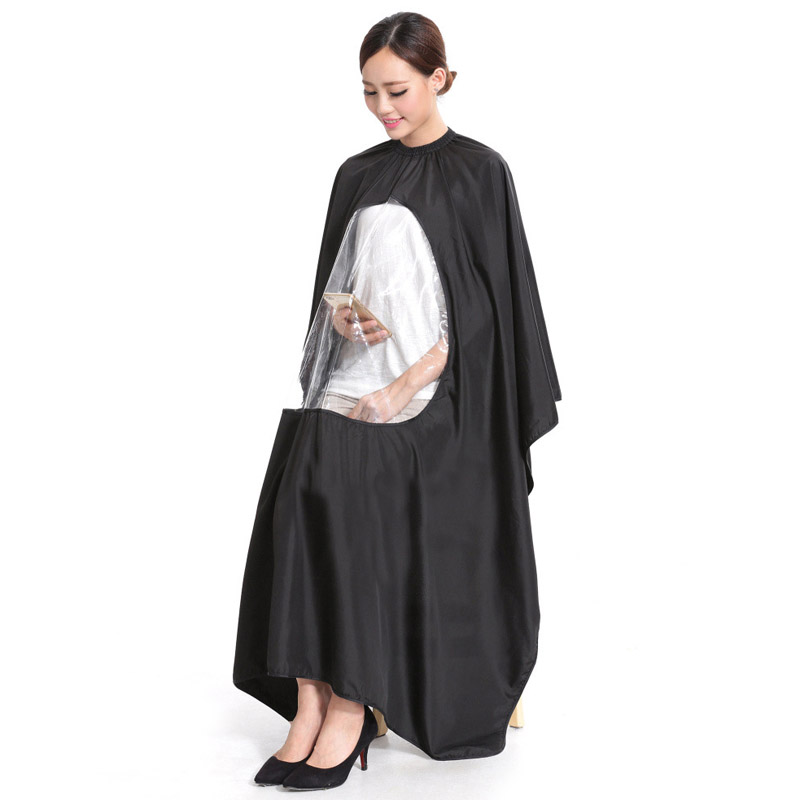 New Hot Adult Salon Hair Cut Hairdressing Barbers Hairstylist Cape Gown Waterproof Barber Cover Cloth Transparent Covers SMR88