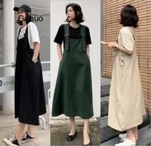 Летнее платье на бретельках для женщин Свободные повседневные