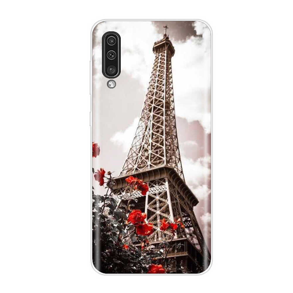 For Samsung Galaxy A50 Case Silicon Cartoon Cute Soft TPU Mobile Phone Shell Paint Back Cover Coque Funda Capa Bumper Protective