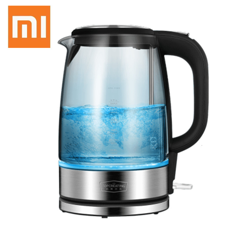 Xiaomiyoupin Glass Electric Water Kettle Stainless Steel Home LED Light Tea Pot  Temperature Control Anti-Dry Electric Kettle