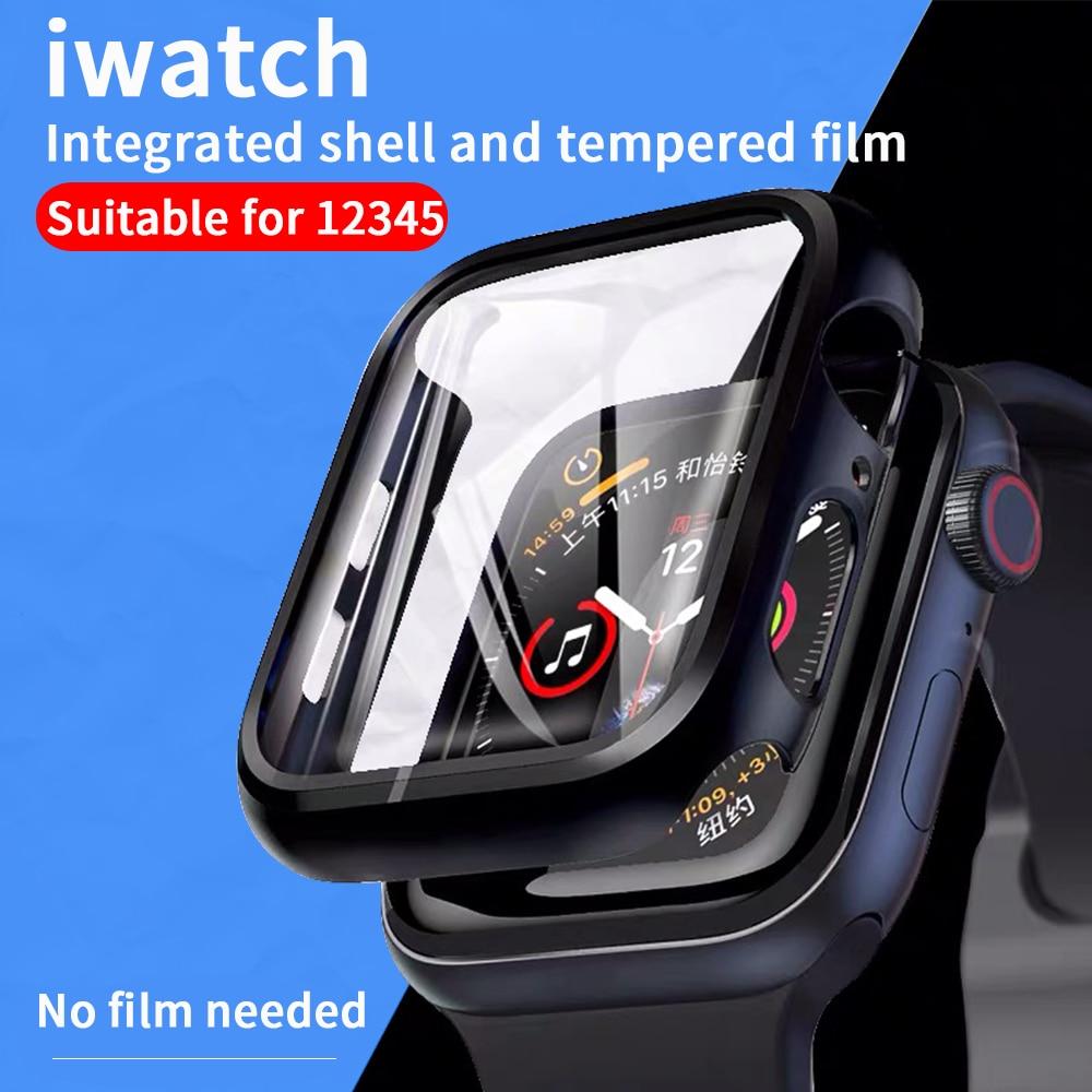 Funda + cristal templado para Apple Watch 44mm 40mm serie 5 4, funda protectora de pantalla, funda de protección para iwatch Series 3 2 1 42mm 38mm Teléfono Móvil 4G LTE apple-iphone SE, iPhone Original libre, Dual Core, 2GB RAM, 16 GB/64GB ROM, pantalla de 12,0mp, IOS, reconocimiento de huella dactilar, Touch ID