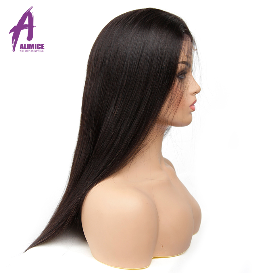 Transparent Glueless Lace Front Wig 13x4 Malaysian Straight Human Hair Wigs Alimice Remy Human Hair Lace Wig For Black Women