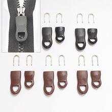 Nova substituição zíper tags zip fixer para roupas preto zíper puxar fixer para mala de viagem saco roupas tenda mochila 5 pçs/set